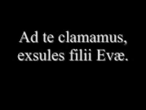 Salve Regina For Latim Mass Latim Legendas Youtube