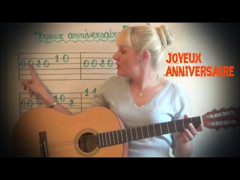 Cours de guitare pour enfant: Joyeux anniversaire