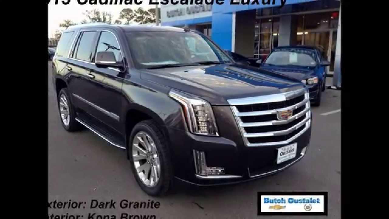 2015 Cadillac Escalade Luxury In Dark Granite With Kona
