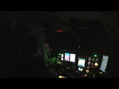 24 Minutes Approach at night to Zürich LSZH on ILS 14 with a Cessna P210 Silver Eagle