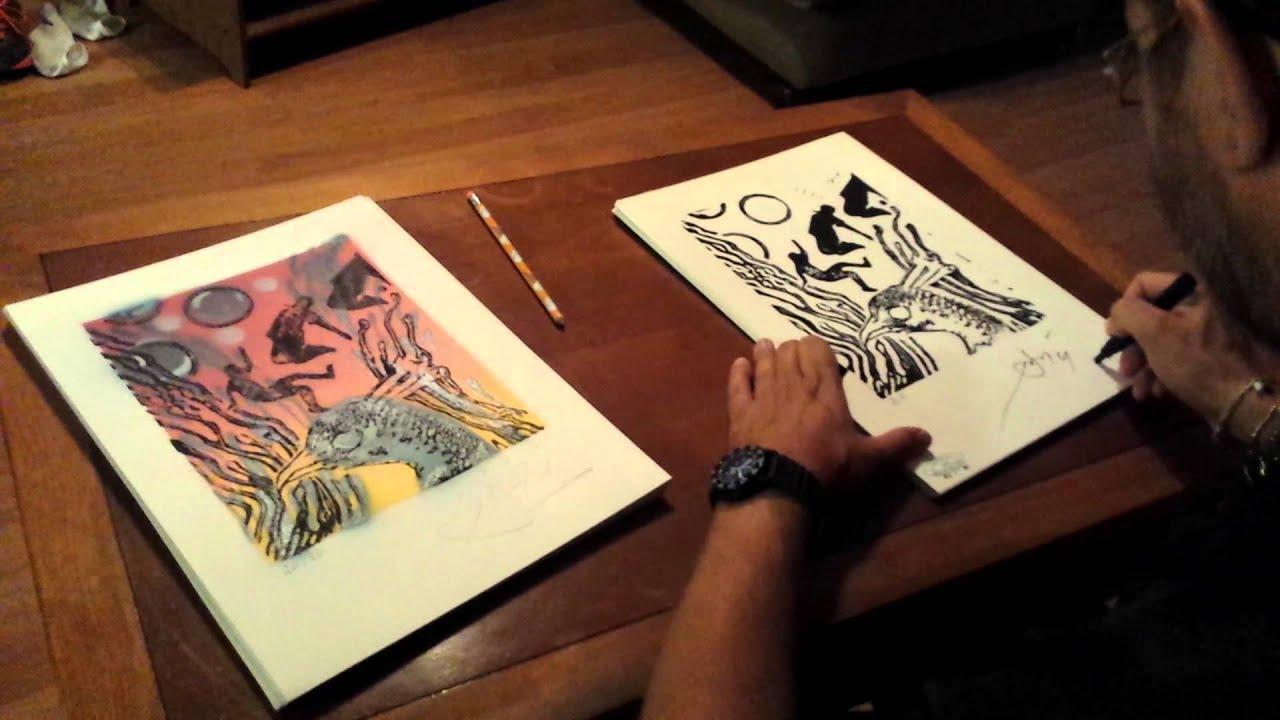 surrealist artist john creech signing limitied edition prints youtube