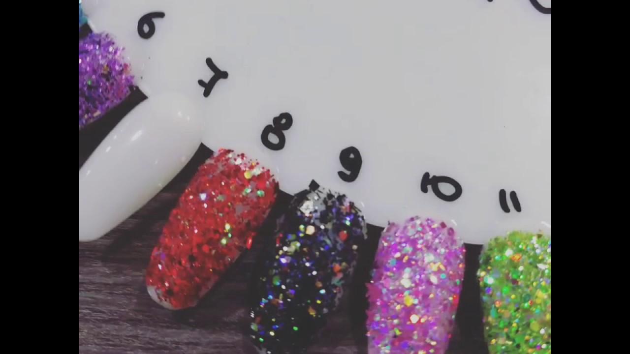 J.K star-nails.gr Glitter Mix - YouTube