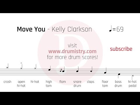 Kelly Clarkson - Move You Drum Score