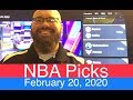 NBA Picks (2-20-20)  Part 1 of 2  Pro Basketball Expert Predictions & Daily Vegas Betting Lines