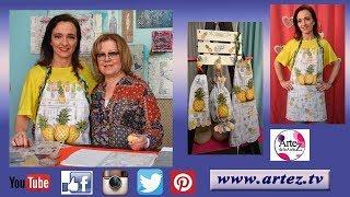 Set de cocina con sellos, stencils y pintura para tela-Ana María Paaravic