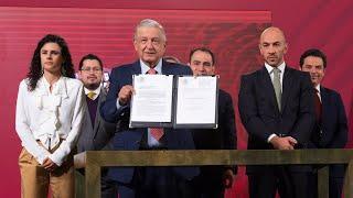 Iniciativa para regular subcontratación ilegal. Conferencia presidente AMLO