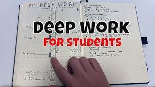 Download How I Use Deep Work as a Computer Science PhD Student | Bullet Journal Spreads for Productivity