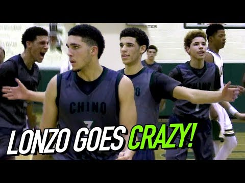 LaMelo SPRAINS ANKLE So Lonzo & LiAngelo TAKE OVER! PRIME CHINO HILLS @ Damien FULL HIGHLIGHTS