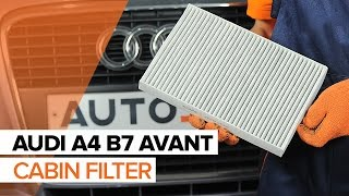 How to change Oil Filter on AUDI A4 Avant (8ED, B7) - online free video
