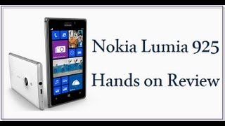 Nokia Lumia 925 Hands On Review And Price In India