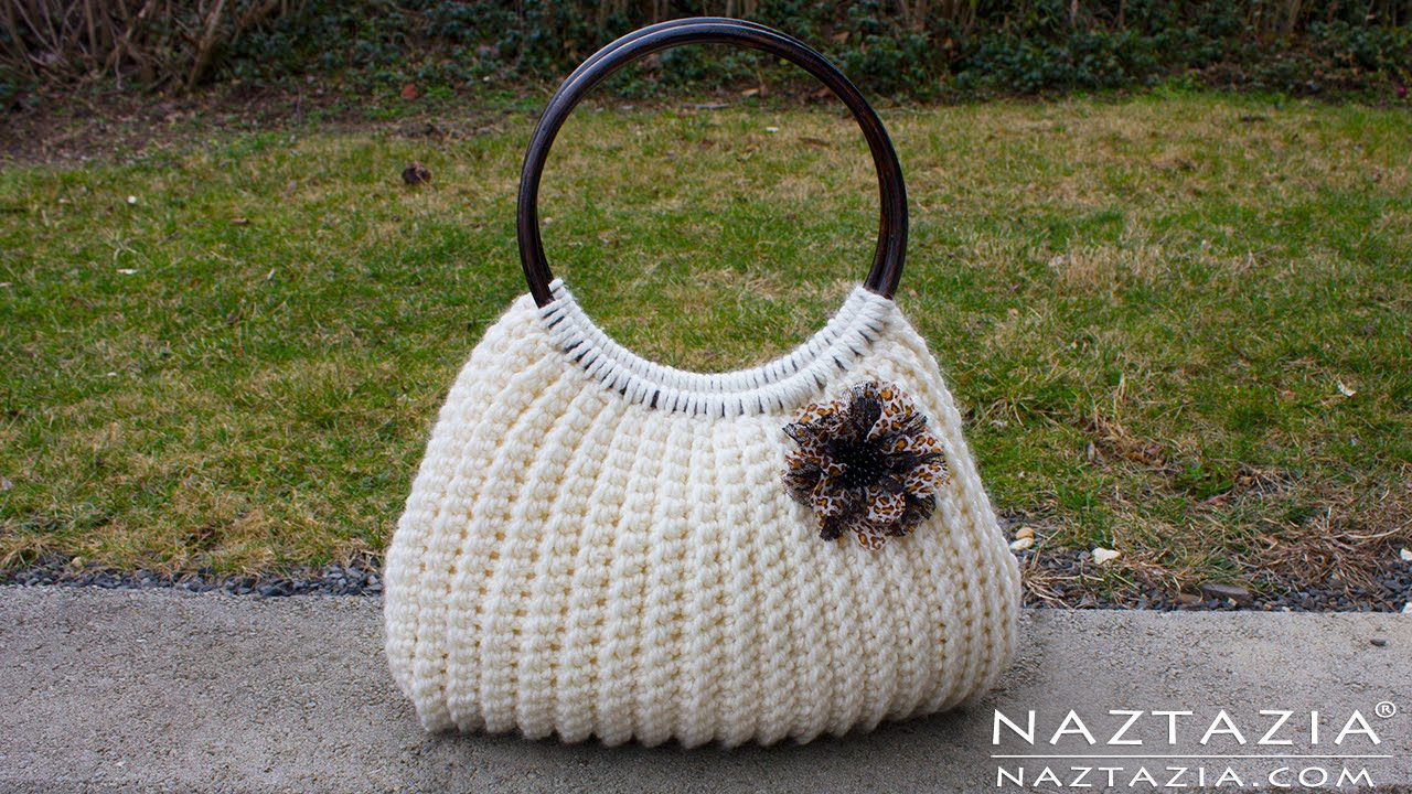 Diy Tutorial Easy Crochet Savvy Handbag Purse Tote Croche Bolsa