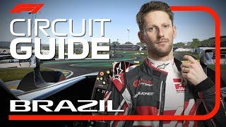 Romain Grosjean's Virtual Hot Lap Of Interlagos | 2018 Brazilian Grand Prix