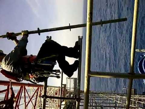 Hanging Legs Scaffolding For Crane Youtube