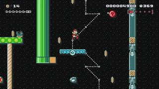 暗闇アスレチック (dark athletic) by CWU-01P - Super Mario Maker - No Commentary