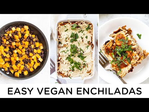 EASY VEGAN ENCHILADAS ‣‣ with black beans & butternut squash