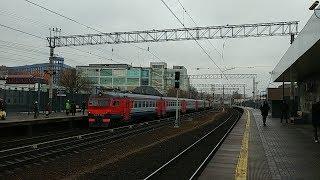 электропоезд ЭР2К-1152 станция Москва-Каланчёвская