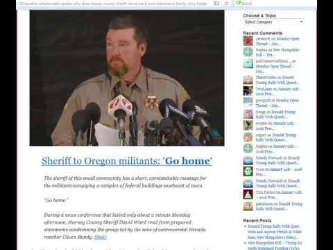 Harney County Sheriff Worked for the BLM