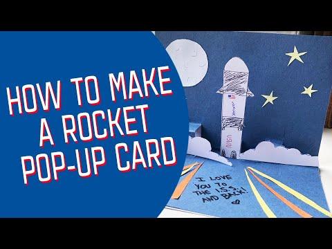 How to Make a Rocket Pop-Up Card