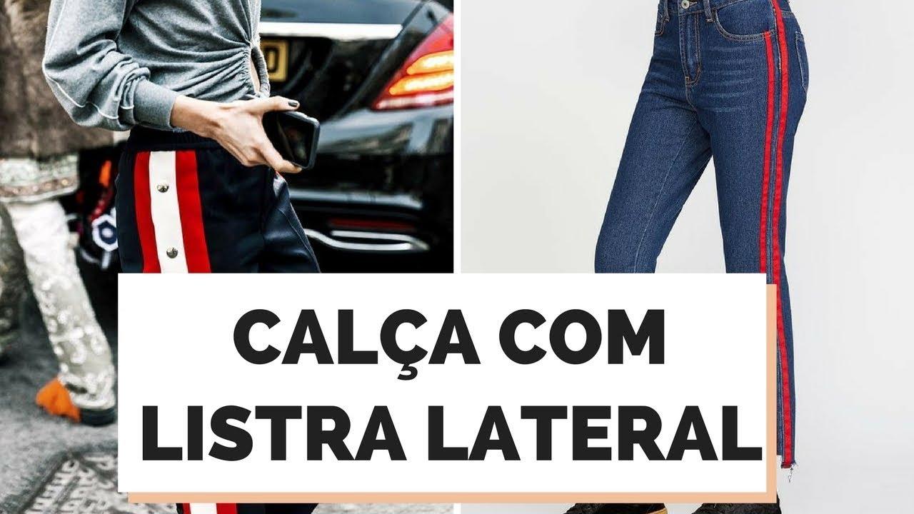 8 DICAS COMO USAR A CALÇA COM LISTRA NA LATERAL   MARI FLOR - YouTube 0823f040bc