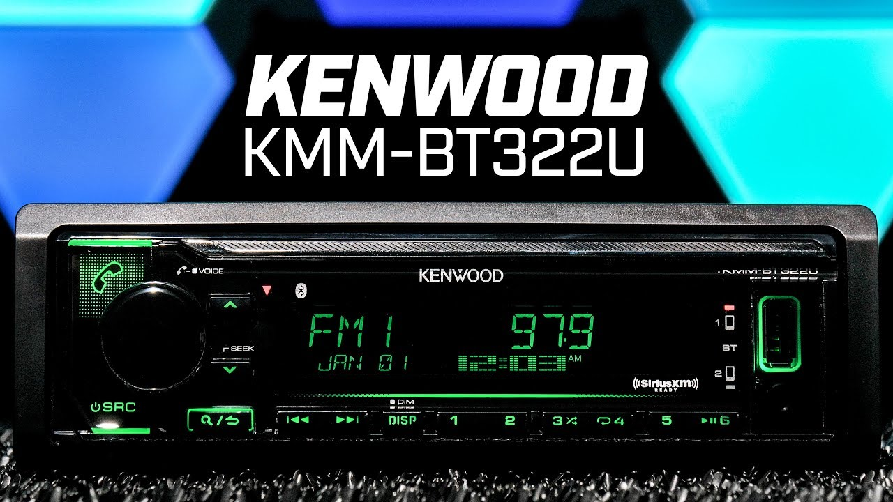 kenwood kmm-bt322u - single din bluetooth - no disc slot
