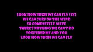Barbie movie song: Look how high we can fly lyrics on screen