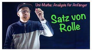 6.3 Satz von Rolle | Analysis für Anfänger: Differentialrechnung