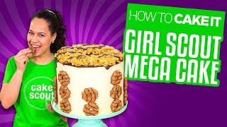 Girl Scout Mega Cake - CARAMEL, COCONUT & CHOCOLATE | Yolanda Gampp | How To Cake It