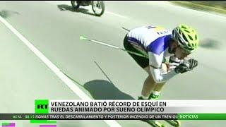 Un venezolano bate un récord de esquí animado por los Juegos Olímpicos
