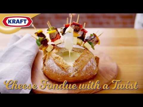KRAFT Cheese Fondue with a Twist