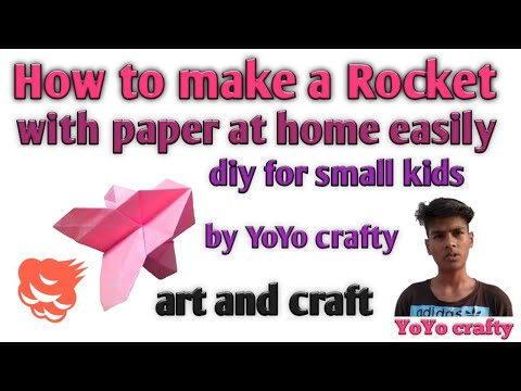 How to make rocket with paper, diy craft by yoyo crafty