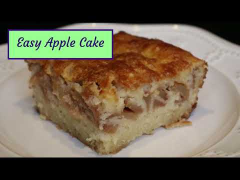 Easy Apple Cake Recipe - How To Make The Easiest Apple Cake