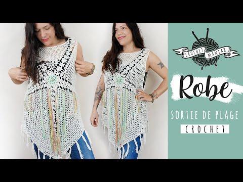 Tuto Crochet Robe Sortie De Plage Facile Et Tres Economique Youtube
