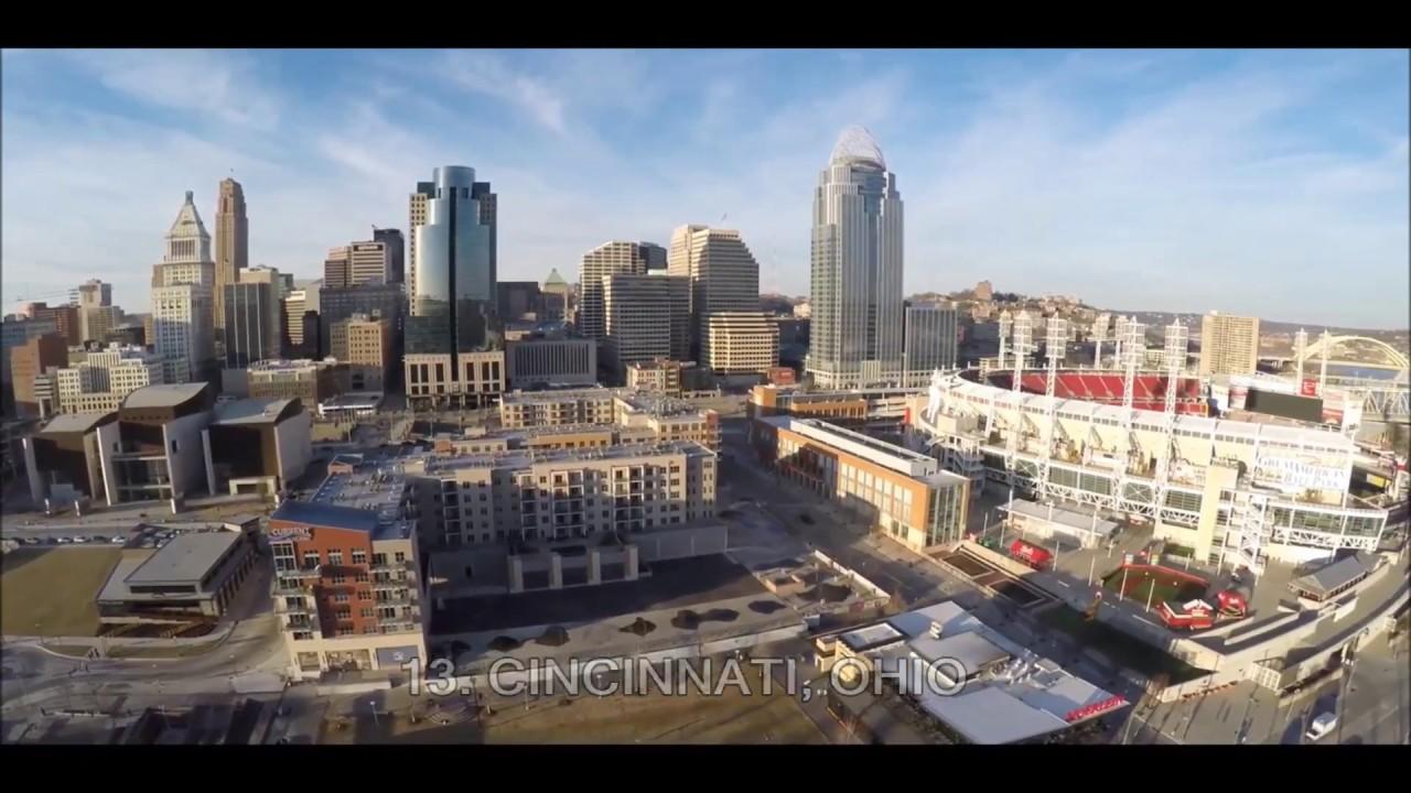 Top 15 Biggest US Midwest Cities Aerial Views