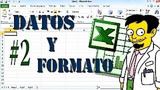 curso excel básico 2 captura de datos y formato