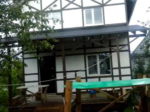 Строим дом. Вентилируемый фасад под фахверк ч.3
