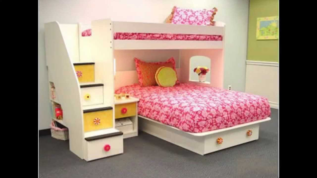 Twin girls bedroom decorations ideas youtube for Girls bedroom decorating ideas with bunk beds