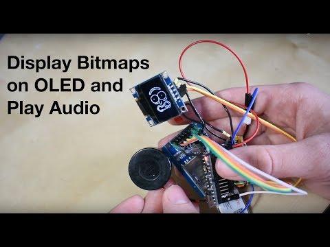 "Display Bitmaps On 0.96"" OLED & Play .wav Audio On Arduino Nano (Pickle Rick Followup Video)"