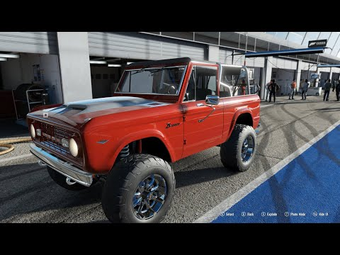FORZA Motorsport  -  Ford Bronco Barrett-Jackson Edition - Car Show Speed Crash Test .