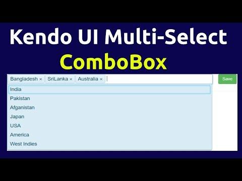 Kendo UI MultiSelect ComboBox (Basic usage in Asp Net MVC) - YouTube