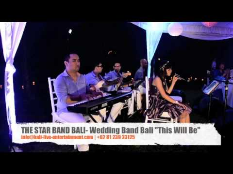 "The Star Band Bali Acoustic, Bali Wedding Band ""This Will Be"""