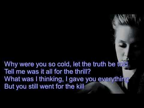 Adele  - Can't Let Go  (Video Lyrics) HD