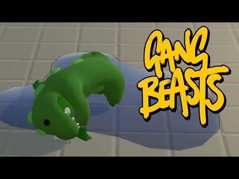 SAVE THE GATOR! Gang Beasts Online Part 4!