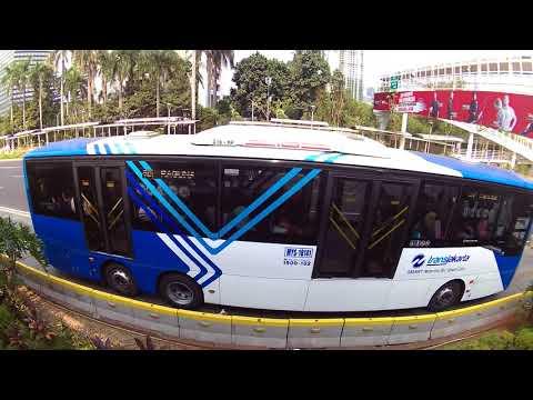 Bus-Bus Transjakarta Busway  Koridor 1 Blok M Kota Mp3