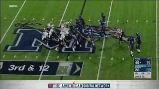 Football Highlights: Navy 45, Memphis 20