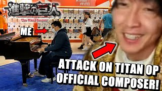 Attack on Titan's Composer Reacts to my Cover of