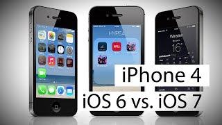 iPhone 4: iOS 6 против iOS 7