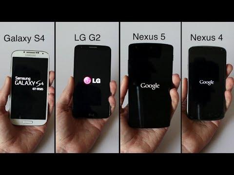 LG G2 VS Nexus 5 VS Galaxy S4 VS Nexus 4 | Rapidité, Ecran, Appareil Photo, etc