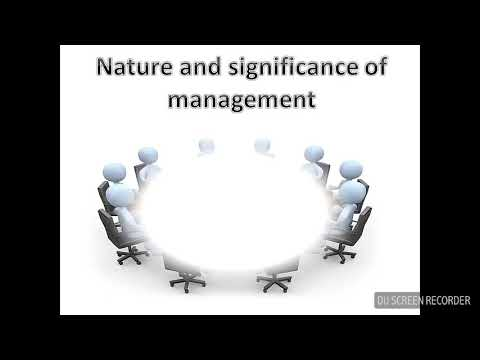 Principles and nature of management