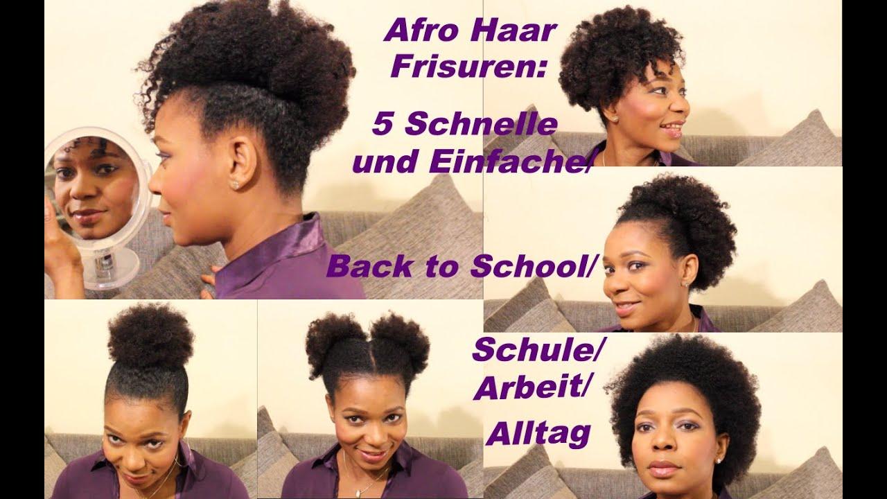 5 Schnelle Und Einfache Afro Frisuren Back To School Schule