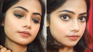 Brown smokey eye tutorial  Nicka k palette  Hooded eyes  festival makeup look